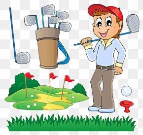 Play Golf - Golf Club Cartoon PNG