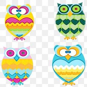 Bird Of Prey Yellow - Owl Yellow Pattern Bird Of Prey PNG