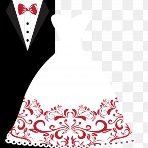 Vector Bride And Groom Wedding Dress Suits - Wedding Invitation Bridegroom Wedding Dress Clip Art PNG