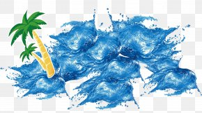 Wave Spray - Ice Summer Poster PNG