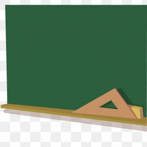 Cartoon Vector Blackboard Ruler - Blackboard Computer File PNG