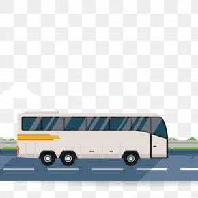 Vector Car Bus - Bus Road Download PNG