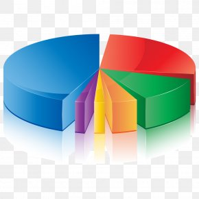 PPT Element - Pie Chart Diagram Three-dimensional Space PNG