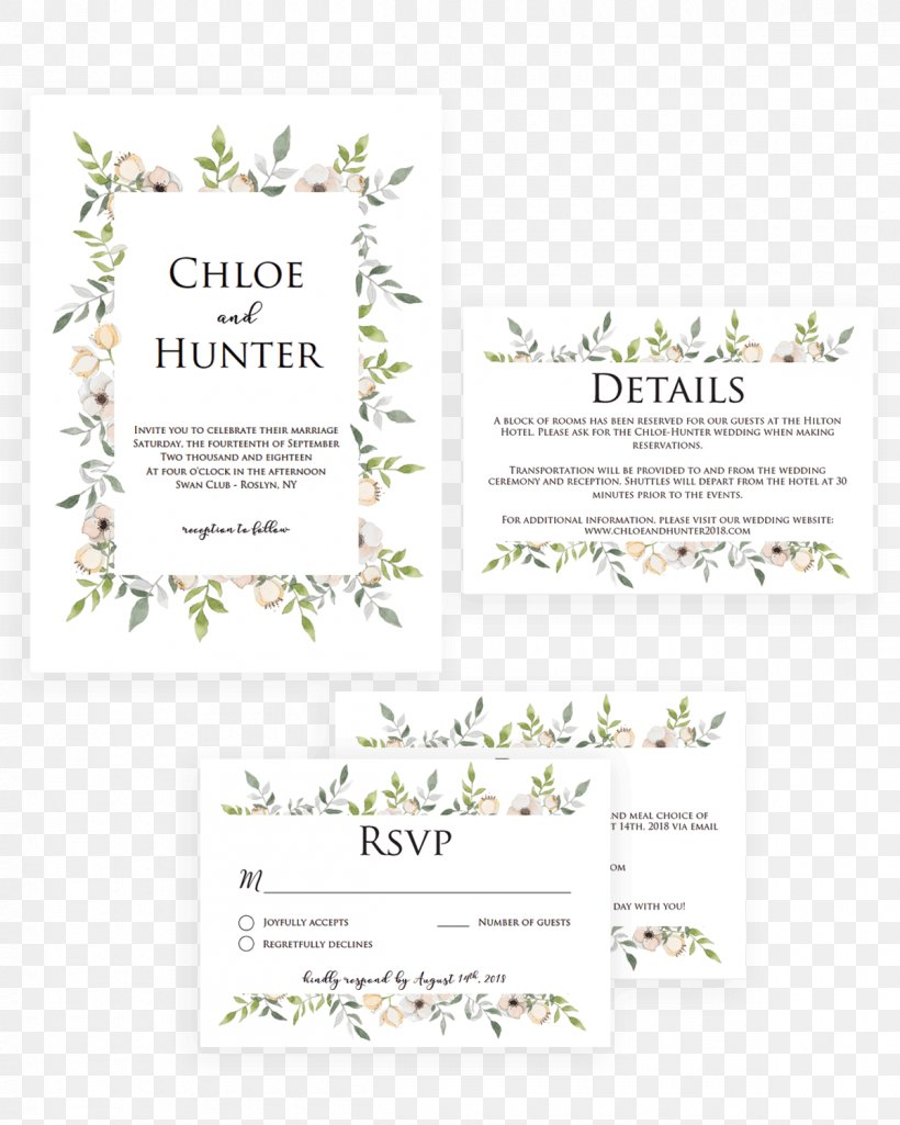 Wedding Invitation Greeting Note Cards Christmas Convite Png