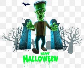 Vector Funny Halloween Flyer - Halloween Euclidean Vector PNG