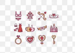 Wedding Anniversary - Valentines Day Heart February 14 Icon PNG