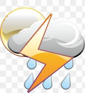 Lightning Rain Cloud Chart - Lightning Thunder Rain PNG