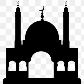 Mosque Clip Art Black And White Temple - Al Masjid An Nabawi Mosque Vector Graphics Clip Art PNG