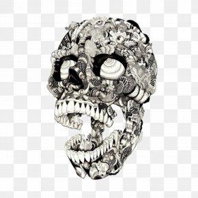 Skull - Swindon Visual Arts Drawing Illustrator Illustration PNG