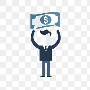 Man With A Dollar In Hand - United States Dollar Logo Icon PNG