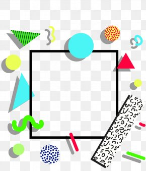 Abstract Geometric Triangle Dots Border - Geometry Euclidean Vector PNG