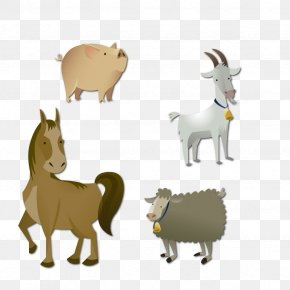 Vector Animal Goat - Goat Sheep Animal Euclidean Vector PNG