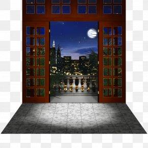 Backdrop - Facade Balcony Night City PNG