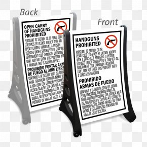 Texas Traffic Signs - Texas Concealed Carry Weapon Firearm Image PNG