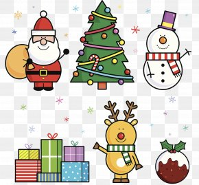 Christmas Cartoon Patterns - Santa Claus Christmas Ornament Cartoon Illustration PNG