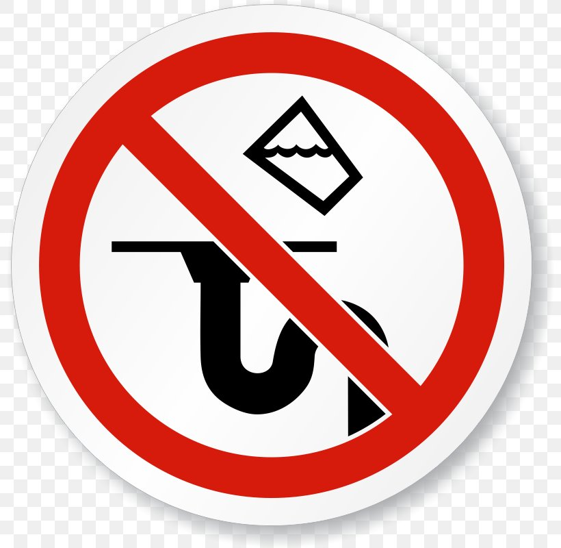 Sign Drain Label Sticker No Symbol, PNG, 800x800px, Sign, Area, Brand, Drain, Hazard Download Free