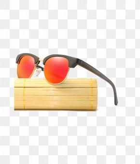 Glasses - Sunglasses Bamboo Goggles Eyewear PNG