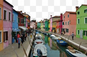 Italy Burano Three - Murano Burano Island Lace Color PNG