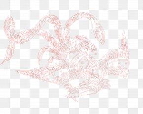 Red Phoenix - Pink Petal Pattern PNG