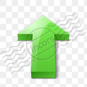 Green Up Arrow Emoji - Clip Art Computer File Diagram Computer Font Typeface PNG
