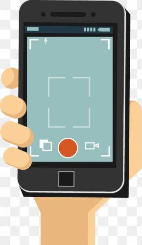Cartoon Camera Phone Screen - Smartphone Feature Phone Mobile Phone PNG