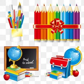 Beautiful Campus School Supplies - School Supplies PNG