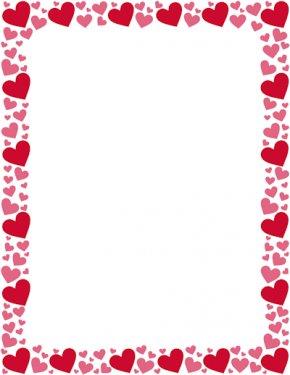Heart Border - Right Border Of Heart Color Clip Art PNG