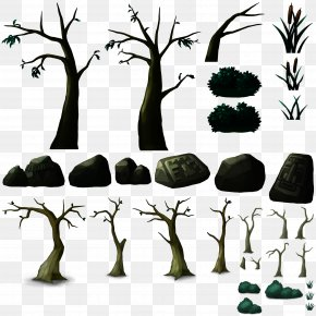 FIG Scene With Houses,Rock Stone Tree - Tree Rock Scene Graph 3D Computer Graphics PNG
