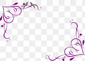 Cursive Cliparts Border - Borders And Frames Picture Frame Decorative Arts Clip Art PNG