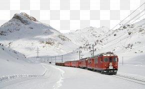 Traveling By Train - Bernina Express Lugano St. Moritz Train Travel PNG