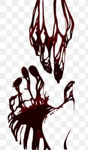 Bleeding Hands - Blood Display Resolution 1080p Wallpaper PNG