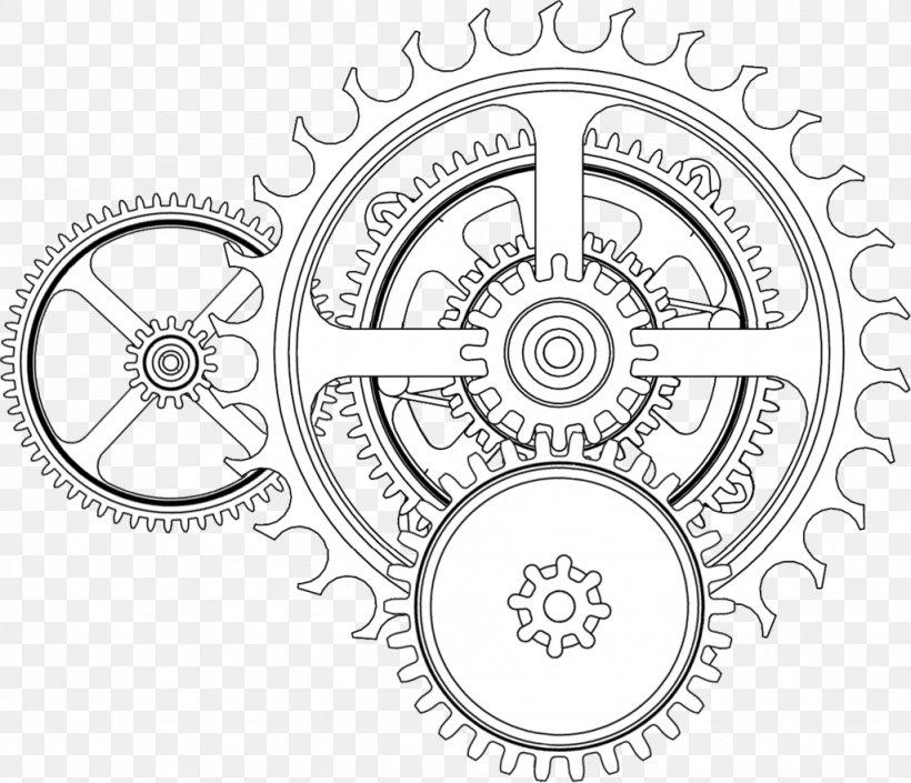 Gear Tattoo Drawing Steampunk Png 1024x881px Gear Area