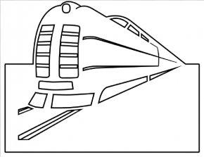 Train Outline - Train Rail Transport Locomotive Clip Art PNG