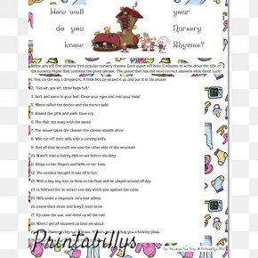 Nursery Rhymes - Baby Shower Infant Bridal Shower Party Mother PNG