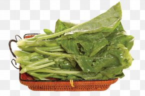 Bamboo Basket Of Kale - Chinese Broccoli Vegetarian Cuisine Chinese Cuisine Vegetable Stir Frying PNG