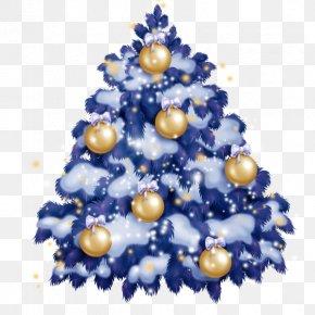 Christmas Tree Blue - Christmas Tree Santa Claus Christmas Ornament Ded Moroz PNG