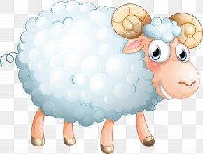 Cartoon Sheep - Sheep Drawing Clip Art PNG