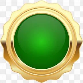 Seal Badge Green Gold Clip Art Image - Clip Art PNG