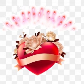 Heart-shaped,Ribbon,Poster Background Pattern - Broken Heart Love PNG