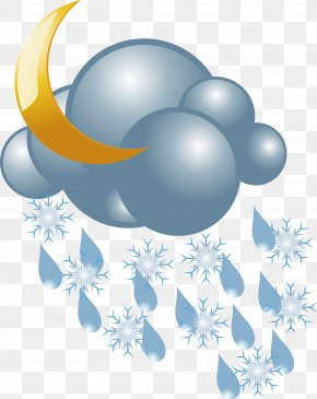 Snow And Snow Icon Vector - Rain And Snow Mixed Weather PNG