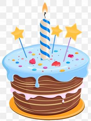 Birthday Cake With Stars Clipart - Birthday Cake Cupcake PNG