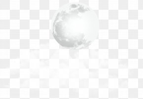 Moon And Clouds Transparent Clip Art Image - Black And White Pattern PNG