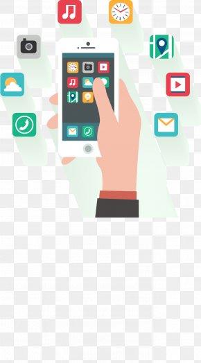 Vector Mobile Phone APP Introduction Picture - Smartphone Mobile App Development Flat Design PNG