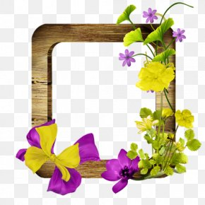 Violet - Floral Design Violet Cut Flowers Pansy Picture Frames PNG