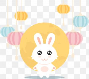 Vector Cute Rabbit Mid-Autumn Festival - Moon Rabbit Easter Bunny Mid-Autumn Festival Lantern Festival PNG