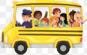 Bus Cliparts Transparent - School Bus Yellow Clip Art PNG