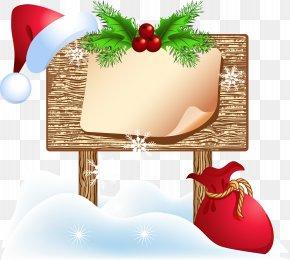 Christmas Billboard - Santa Claus Christmas Billboard PNG