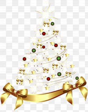 Large Transparent Gold Christmas Tree With Gold Bow Clipart - Gold As An Investment Kenny Wells Chart Genomes OnLine Database PNG