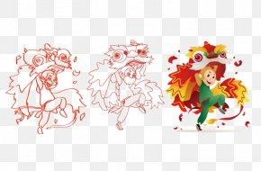 Monkey Image Lion Dance - Lion Dance PNG
