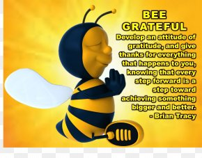 Bee Thankful Cliparts - Bee Gratitude Thanksgiving Clip Art PNG